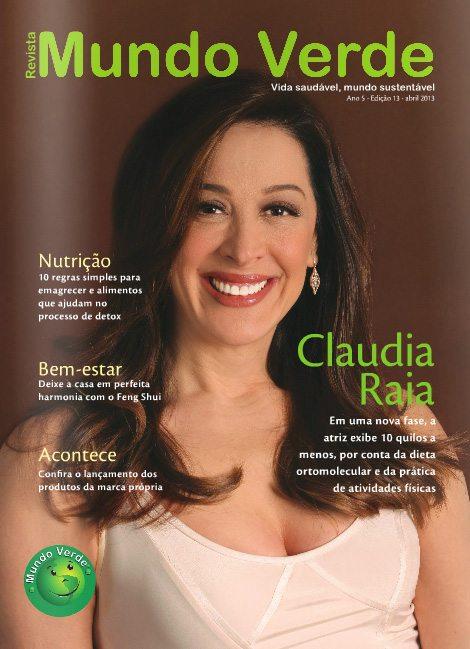Revista Mundo Verde Claudia Raia