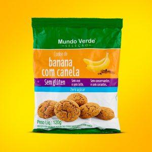 COOKIE DE BANANA COM CANELA SEM ADIÇÃO DE AÇÚCAR