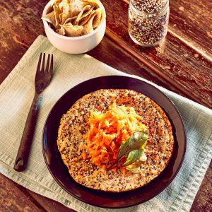 Omelete de Grãos e Ervas Servido
