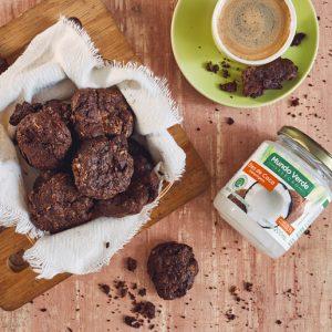 Cookies de chocolate com óleo de coco
