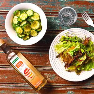 Salada Agridoce de Pepino