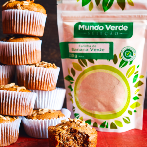 Muffin de Farinha de Banana Verde com Semente de Girassol