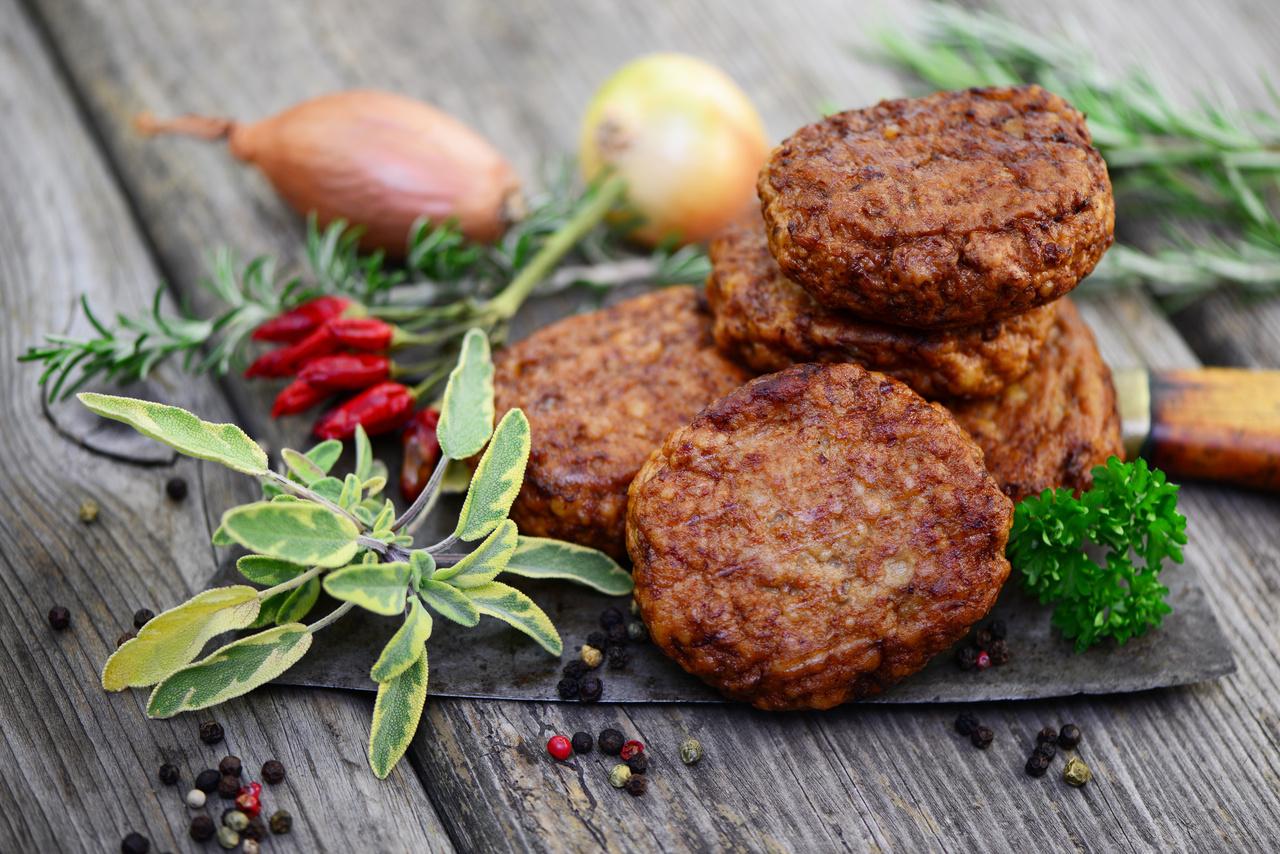 hambúrguer caseiro com fibras