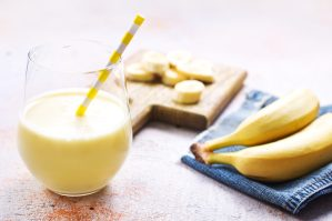 Receita de Shake proteico Vegano com banana