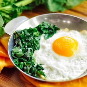 Receita de Ovos com Espinafre