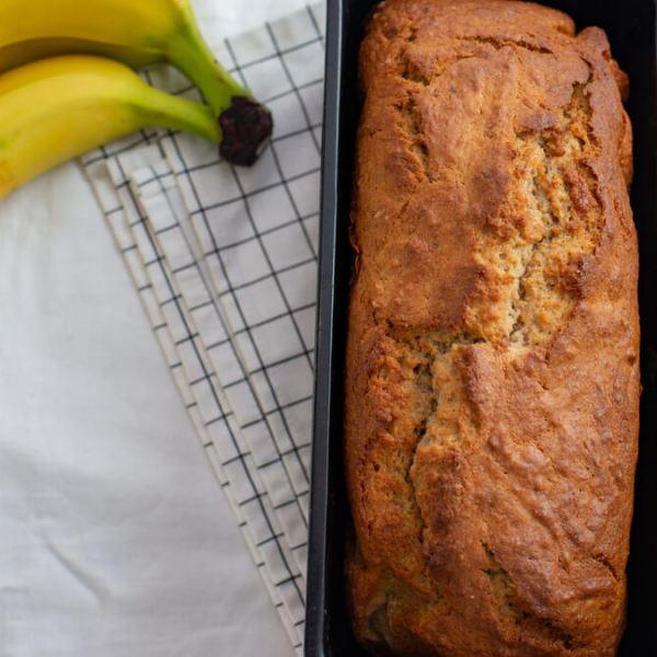 Receita de Bolo de banana com casca