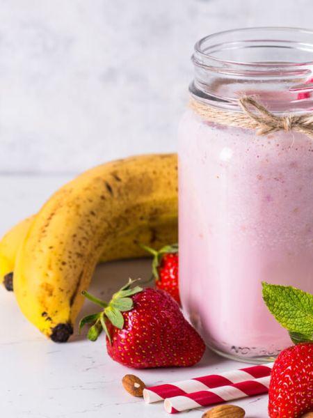 Receita de Iogurte com Biomassa de Banana e Morango