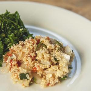 Receita de risoto de quinua com castanha do pará